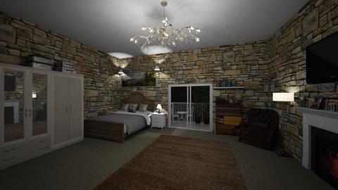 Cottage Bedroom - Bedroom  - by AmelieDoughty