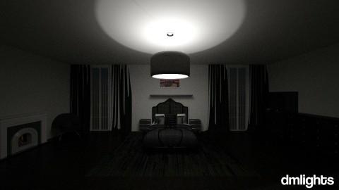 black bedroom - Bedroom - by DMLights-user-1381324