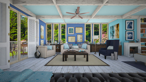Blue House_Living - Eclectic - Living room  - by Laurika