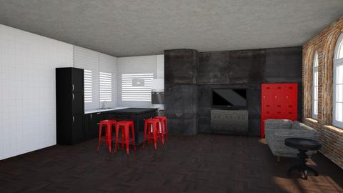 Brick - Living room - by clarktasia
