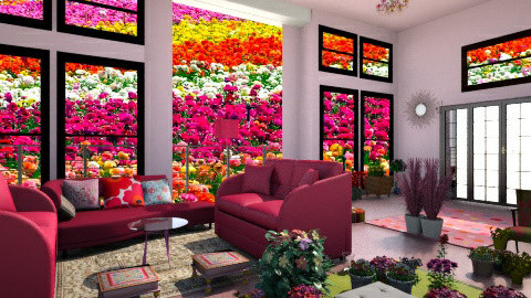 flowery - Country - Living room  - by hed61