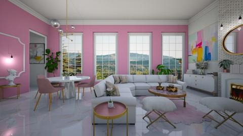 pink - Living room  - by diegobbf
