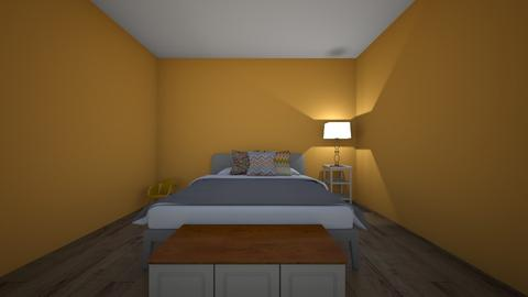 apricot bedroom - Bedroom  - by ABogle