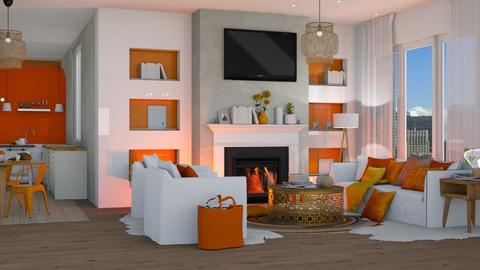 Orange Apartment - Modern - by NEVERQUITDESIGNIT