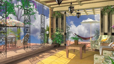 Open Patio - Country - Garden  - by Bibiche