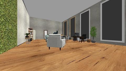 estudio semi - Rustic - Office  - by ElizabethZavala