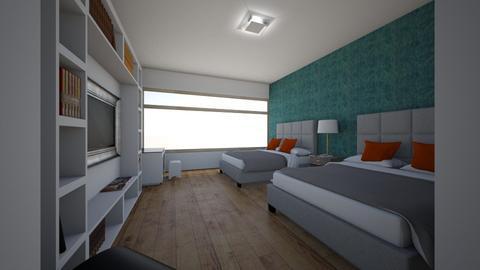 estructura hotelera - Modern - Living room - by juan luis cantorin quinteros