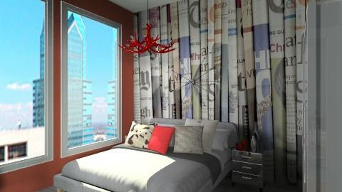 Studio Apartment_bedroom - Eclectic - Bedroom  - by idesine