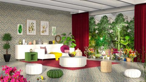 indoor plant room - Modern - Living room  - by RimaNina