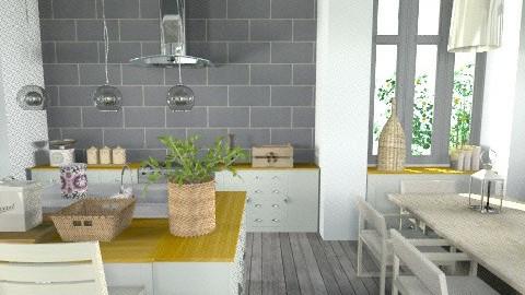 grey kitchenl - Country - Kitchen  - by naki1