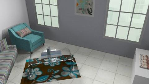 work no.1 LR - Retro - Living room  - by liora