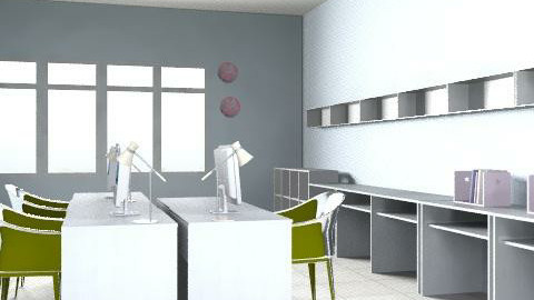 office white 22 - Eclectic - Office  - by danidance