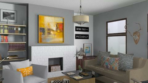 Random Spaces - Living Room - Eclectic - Living room  - by LizyD