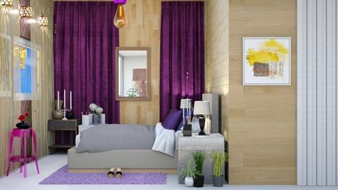 Contest_purple  - Modern - Bedroom  - by wijesinghe
