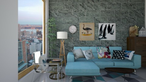 N2 - Retro - Living room  - by Karim Mahfouz
