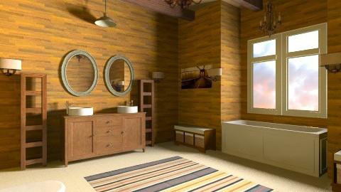 Rustic Country Bathroom - Rustic - Bathroom  - by DiamondJ569