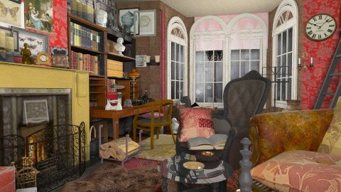Study at 221 Baker St - Vintage - Living room - by katmills98