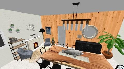 Lake House Kitchen - Rustic - Kitchen - by MelanieLynnKing