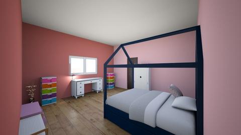 girl bedroom - Kids room  - by babblekittyhope