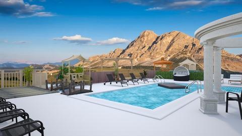 Mountain View Pool - Garden  - by Amyz625