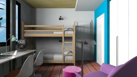 2 Girls Room - Modern - Kids room  - by 3rdfloor