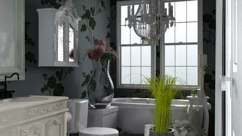 Grey bathroom - Glamour - Bathroom  - by alenah