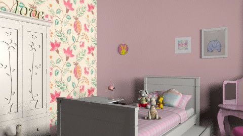 little girl bedroom - Modern - Kids room  - by Aliya Al