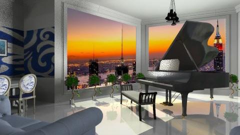 piano - Glamour - Living room  - by irina 74