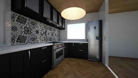 Kitchen1 without brick 2 - Kitchen - by sancharib