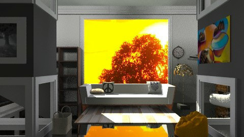sunset - Living room  - by annabeth