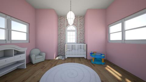 Pink Baby Nursery - Feminine - Kids room  - by sophiefleah