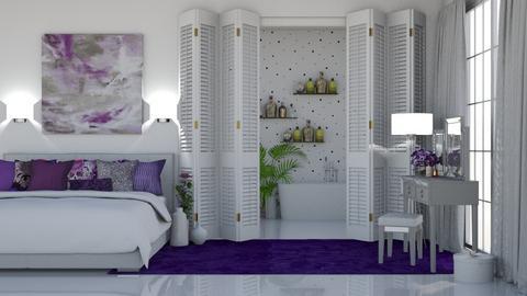 Purple Bedroom - Bedroom  - by KittyKat28
