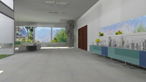 view from front door - Minimal - Living room  - by kitty