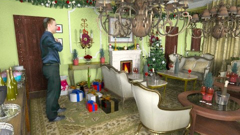 Deck the Halls - Classic - Living room  - by auntiehelen