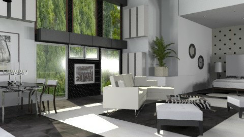 Lux B&W Studio  - Modern - Living room - by liling