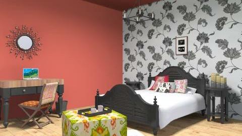 Cozy Antique - Rustic - Bedroom  - by HSSmith