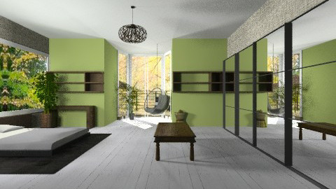 GreenBedroom - Rustic - Bedroom  - by StienAerts