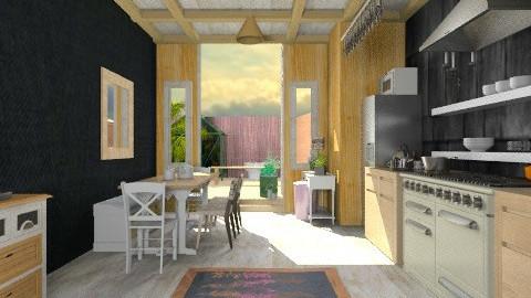 My wooden kitchen b - Rustic - Kitchen  - by mrschicken