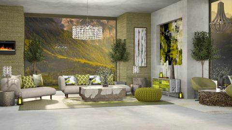 SERENE GREEN - Masculine - Living room  - by RS Designs