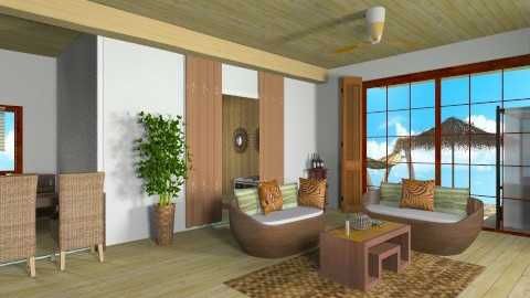 pacific bedroom - Rustic - Living room  - by suzana djukic