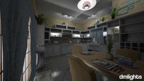 Kewl Blue Kitchen - Eclectic - Kitchen  - by LucretiaC