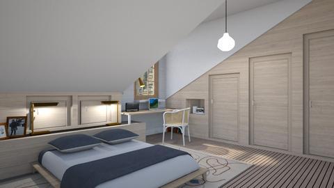 Sloped bedroom - Modern - Bedroom  - by augustmoon