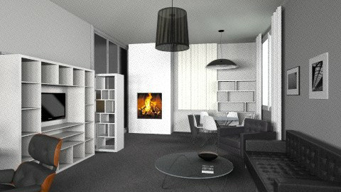 international style3 - Modern - Living room - by kisa8