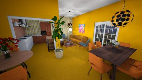 sixties inspired - Living room  - by Marion_