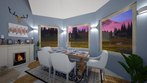 bow window  - Dining room - by enrica75