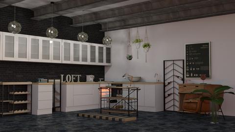 Eco Industrial - Rustic - Kitchen  - by evabarrett