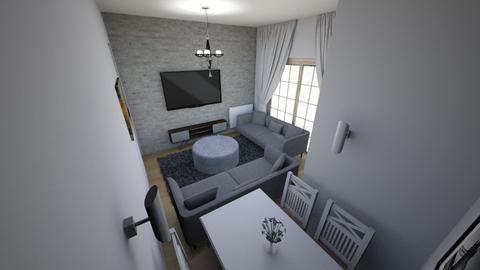 Minimalist salon 3  - Modern - Living room  - by filozof