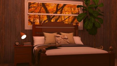 Vintage Wooden Cabin  - Bedroom  - by MilksDaBunz