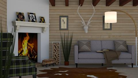 Hunting Cabin - Rustic - Living room  - by millerfam