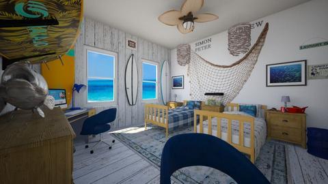 Simon and Andrew - Bedroom  - by SammyJPili